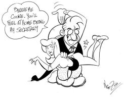Cookie Bumstead secretary of Mr Dithers? by Nik-Zula