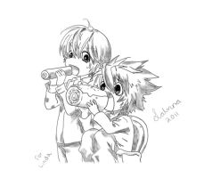 Light and L Chibi Death Note by FateSunset