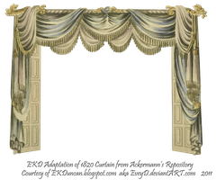 1820 EKD Regency Curtain Room 2 - curtain only by EveyD