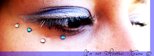 Make-Up in Blue and Silver II by ImnotAnotherGame