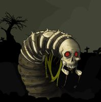 Grave Worm by wizzrobe