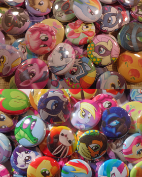 Before and after buttons by MermaidSoupButtons