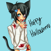 Happy Hallow's eve Saiyu by RageChanTheYaoiFan
