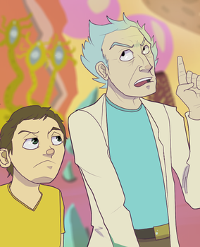 100 Years Rick and Morty by NinjaSniperKitty
