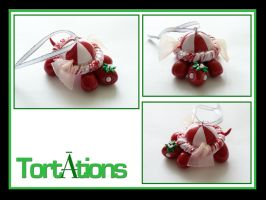 Peppermint the Tiny Tort Christmas Ornament by Tortations
