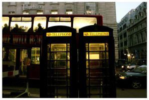 London, telephone booth by moodyline