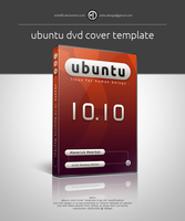 Ubuntu DVD Cover Template by elddes