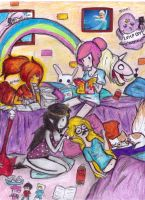 adventure time sleep over by NENEBUBBLEELOVER