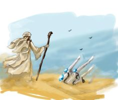 Concept: Chariot in the desert by charrendark