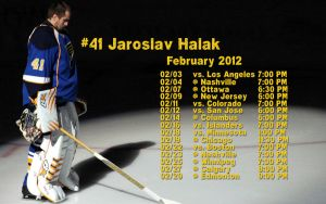 Feb. 2012 St. Louis Blues Schedule Wallpaper by RealBadRobot