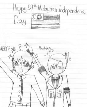 Happy 59th Malaysian Independence Day! by Ask-Hetalia-Romano