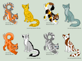 Realistic cat adopts 4 by Limey-Adopts