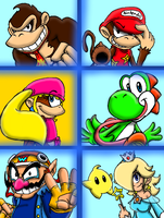My SSB4 Roster-Part 2 by ProjectYOSHIKrueger