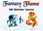 Fantasy Flame (100 Watcher Special) by Azure-Zecron