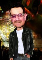 Caricature Bono Vox by dnunciate