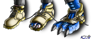 Dragon Foot TF Colored by kzmaster