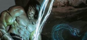 Detail from 3rd king conan cover by Andrew-Robinson