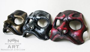 Gold Silver Red Mask Trio by nondecaf