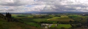 A panoramic view of  Forth Valley Hillfoots area by Squidgybuffalo