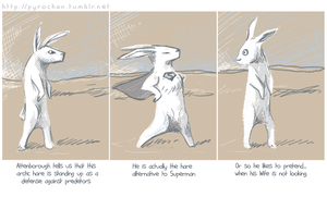 Super Arctic Hare by FionaCreates