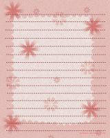 Pink Flowers _ Stationary by mylastel