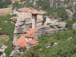 Meteora: Monastery from Above by Lsr-stock