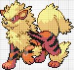 Arcanine Cross Stitch Pattern by Kiboku