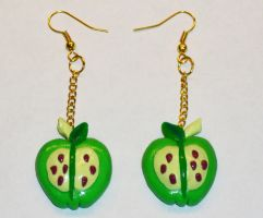 Big MacIntosh Earrings by MadPonyScientist