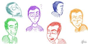 Sheldon Expressions by summergal98