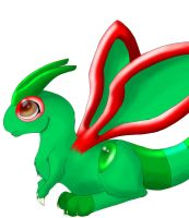 Baby Flygon Colored by Konotashi