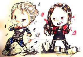 Age of Ultron: Quicksilver and Scarlet Witch by bernce