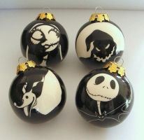 Nightmare before Christmas baubles by OriginalBunny