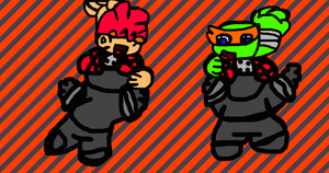 Wilbert And Mieky Rides Ontop Of The Foot Ninjas by TheGr8estOne