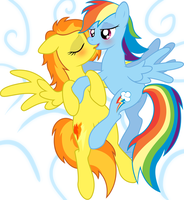 Rainbow Dash x Spitfire by Sotoco