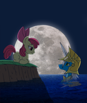 Commission: MLP: Applebloom and Aquahelm by Angel-Wing101