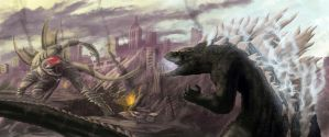 Godzilla vs. Gigan, 2014, B. Grooms by brentdgrooms