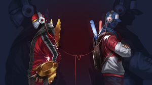 Zed and Shen Wallpaper by Toemass202