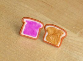 Pb and J studs by ClayConnections