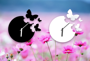 Analog Butterfly Clocks for xwidget by jimking