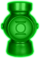 Glowing Green Lantern Battery by KalEl7