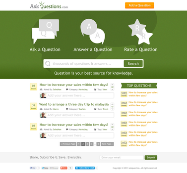 AskQuestion Website by hamzahamo