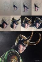 (kind of) Step-by-Step of Loki drawing by ChaoKitty