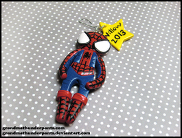 Spiderman Ornament by GrandmaThunderpants