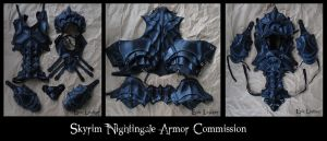 Skyrim Nightingale Armor Commission by Epic-Leather