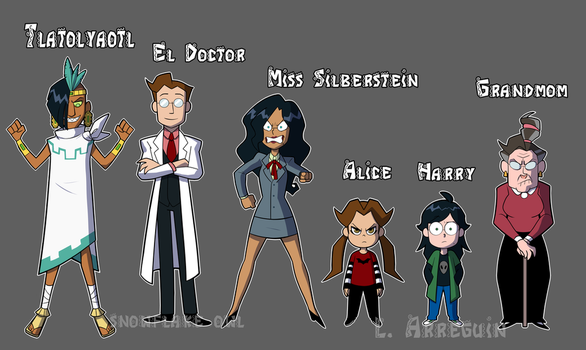 Citlallotica series line up by Snowflake-owl