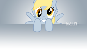 Derpy says 'Muffin' Minimalistic Wallpaper by BlueDragonHans