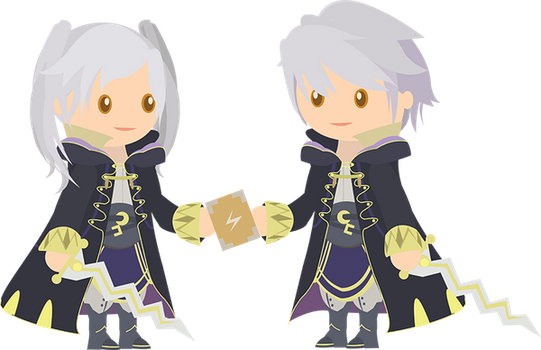 Chibi Robins Vector by ViralDrone