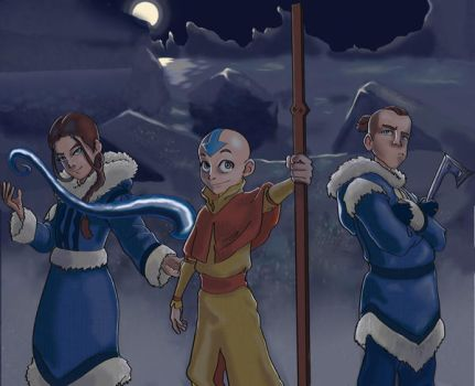 Aang and the gang by Bagginsbaby23