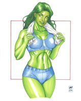 She Hulk Workout by daikkenaurora