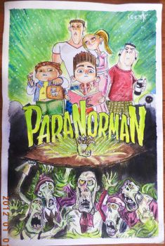 Paranorman watercolor painting (edited) by ice-rockz